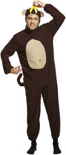 NEW MENS CHEEKY MONKEY ONESIE FANCY DRESS COSTUME APE ANIMAL OUTFIT ZOO