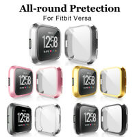 For Fitbit Versa Band Plating TPU Protective Case Screen Full Cover Shell 1PC