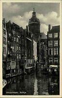 Amsterdam Niederlande Nederland Holland ~1930 Kolkje Kanal Gewässer Häuser Stadt