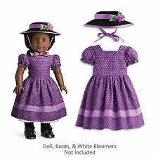 "American Girl ADDY SUNDAY BEST for 18"" Dolls Purple Hat Fancy Clothes Dress NEW"