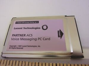 Avaya Partner ACS Voice Mail Card PVM4 R1 Pink Voicemail Refurbished. PCMIA