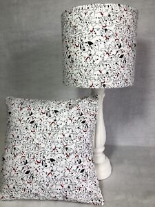 SHOP  '101 Dalmations!' Range of Curtains/Cushions/Lampshades in White Cotton