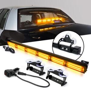 """Xprite 27"""" LED Strobe Light Bar Amber Traffic Advisor Emergency Hazard Warning"""