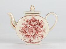 """Antique Style Vintage Rose porcelain Burgundy Red Miniature Mini Teapot 3"""" 8cm"""