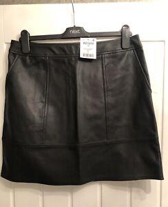 Black PU Leather Look Mini Skirt Size 12 BNWT