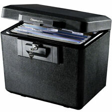 Large Safe Box Fire Resistant with Key Lock Document Valuables Storage Black