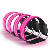 4x LED Leuchtarmband Joggen Reflektorband Blinklicht Sport Armband Rosa