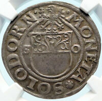 1500-1600 SWITZERLAND Solothurn Batzen Fleur De Lis OLD Swiss Coin NGC i83756