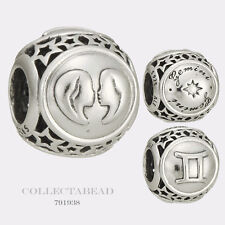 Authentic Pandora Sterling Silver Zodiac Gemini Star Sign Charm Bead 791938