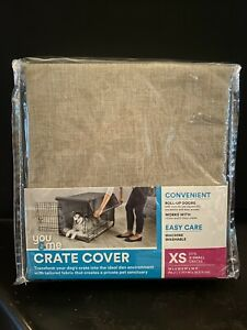 """You & Me Dog Crate Cover Taupe Size XS - XSmall 19"""" L x 12.5"""" W x 14"""" H - NEW"""