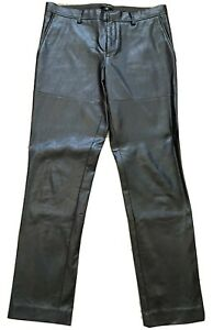River Island Faux Leather Trousers - Men's