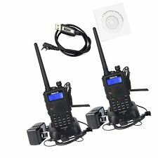 Retevis Rt5 Walkie Talkies Rechargeable 7W Dual Band Radio 136-174/400-520Mhz.