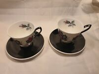 Vintage Royal Albert Masquerade Breakfast Teacup & Saucer x2 In Great Condition