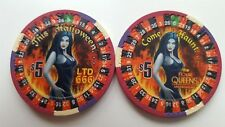 $5 Las Vegas Four Queens Halloween Casino Chip - Unc