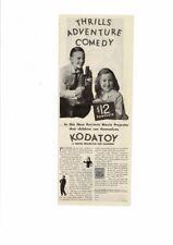 VINTAGE 1931 KODATOY MOVIE PROJECTOR EASTMAN FELIX THE CAT KIDS AD PRINT