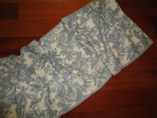 Waverly Blue & Off White Lapis Floral Gingham Tie Top Valance 17 X 66