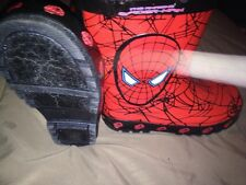 BUSTER BROWN SPIDER-MAN RUBBER BOOTS-SIZE:  M (11/12)