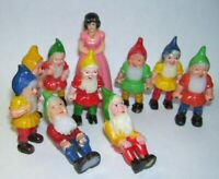 Antique Snow White and the Seven Dwarfs Figures  Made in Hong Kong