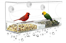 Wild Birds Outdoors Window Bird Feeder with 3 Super Strong Suction Cups & Tray,