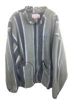 Burton Vintage Fleece Zip Front Sweatshirt Jacket USA Made - Men's XL