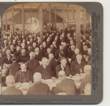Old Soldiers at Dinner Dayton OH UNderwood Stereoview 1902