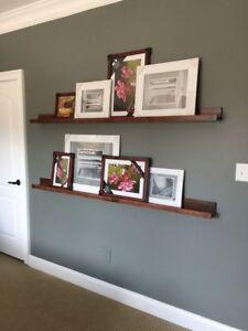 Solid Wood Picture Shelf - Picture Shelves Ledge - Various Sizes & Colours