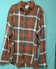 New tags mens Old Navy size large red button up flannel