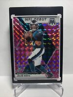 Jalen Hurts 2020 Panini Mosaic Pink Camo Prizm NFL Debut RC #265 Eagles Rookie