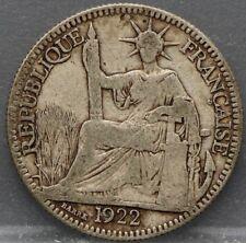 France - Frankrijk Colonie - 10 cent 1922 A Indo China - silver
