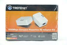 TRENDnet 500Mbps Compact Powerline AV Adapter Kit TPL-406E2K/A -