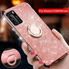 For Huawei P40 Lite E P30Pro P Smart Z Glitter Shockproof Ring Holder Case Cover
