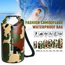2L-30L водонепроницаемая водоотталкивающая сумка мешок для плавающие гребля на каяках кемпинг камуфляж
