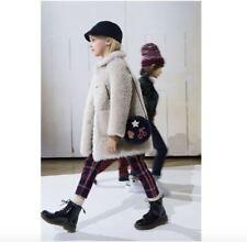 BONPOINT Couture Filles taupe cuir d'agneau Veste 4 ans