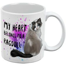 My Heart Belongs Ragdoll Cat White All Over Coffee Mug