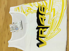 Ladies Valentino Rossi Singlet Moon 46  White Tank New Official Merchandise SALE