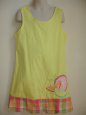 HARTSTRINGS GIRLS PAGEANT DRESS size 8 YELLOW GREEN PINK FRUITS BEACH BEAUTIFUL