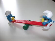 Figurine SCHTROUMPF balançoire récréation Schleich smurf swing