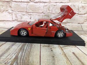vtg ERTL Classic Vehicles Red 61 Ferrari Testor Burago 1:43 scale Die Cast