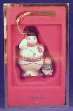 Lenox Snowman Skating with Snow child Trinket Box Christmas Ornament