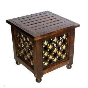 Neu Handgemacht Holzhocker für Wohnzimmer Beistelltisch/Bettseitig