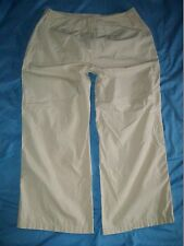 Women's DFA NEW YORK Tan/beige size 10 Crop Pants Capri's 33.5x23.5 Slacks