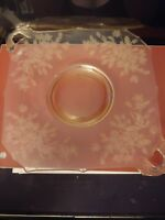 Vintage Yellow Depression Glass - Cherry Blossom Pattern - Serving Plate