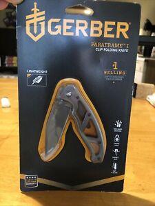 Gerber Paraframe I clip folding knife New Stainless Steel
