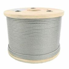 """X 50/' STAINLESS STEEL T304 AIRCRAFT CABLE 7x19 Wire Rope .312 5//16/"""""""