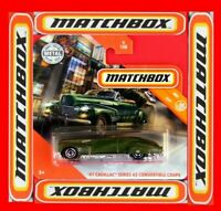 MATCHBOX 2020   ´41 CADILLAC SERIES 62 CONVERTIBLE COUPE   9/100   NEU&OVP
