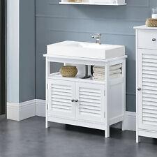 en.casa® Badezimmerschrank Unterschrank Waschtisch Badmöbel weiß 60x60x30cm