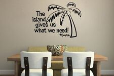 Inspired by Moana Wall Decal Sticker The Island Gives Us What We Need