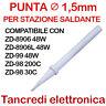PUNTA RICAMBIO C1-1 1,5mm SALDATORE STAZIONE SALDANTE ZD 8906 8906L 99 98 200C