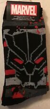 Two pairs Black Panther Crew Socks Men 6-12 Marvel Universe AVENGERS new Style 4