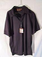 mens golf polo shirt new NWT black Large Lg Tasso Elba Performance short sleeves